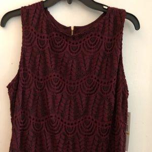 Sharagano Burgundy Dress. NWT